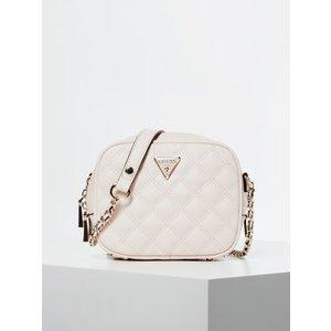 Guess Cessily Stitch Detail Mini Camera Bag, White
