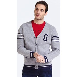 Guess College-style Wool Cardigan, Grey