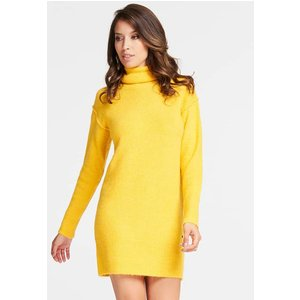 Guess Dress With High Neck, Yellow