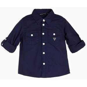 Guess Embroidered Logo Back Shirt, Blue