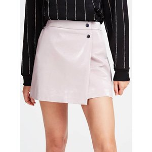 Guess Faux Leather Mini Skirt, Pink