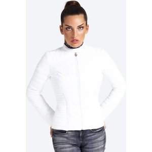Guess Front Pocket Detail Padded Jacket, White