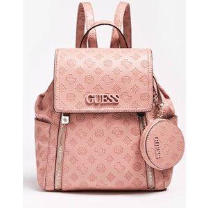 Guess Janelle Debossed Logo Backpack, Pink
