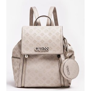 Guess Janelle Debossed Logo Backpack, Grey
