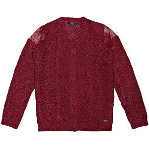 Guess Kids Lace Shoulder Cardigan, Red
