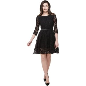 Guess Lace Dress With Belt, Black