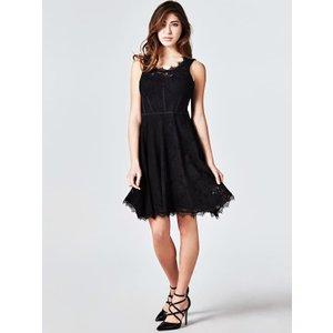 Guess Lace Dress With Flounces, Black