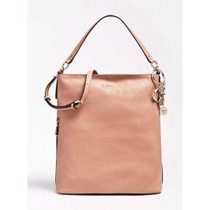 Guess Lila Logo Charm Bucket Bag, Pink