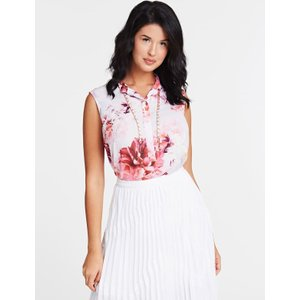 Guess Marciano Floral Print Blouse, Pink