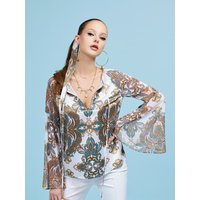 Guess Marciano Flower Print Blouse, White