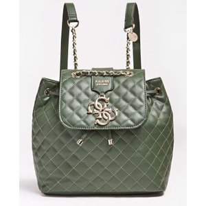 Guess Miriam Quilted-look Logo Backpack, Green