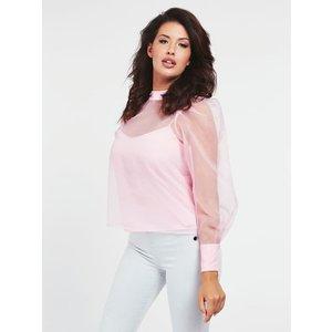 Guess Sheer Detailed Blouse, Pink