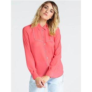 Guess Shirt With Jewel Appliqués, Pink
