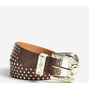 Guess Stud Appliqué Belt, Brown