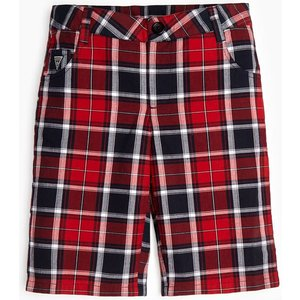 Guess Tartan Bermuda Shorts, Red
