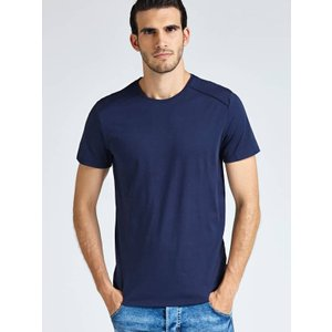 Guess T-shirt With Logo Plate, Blue