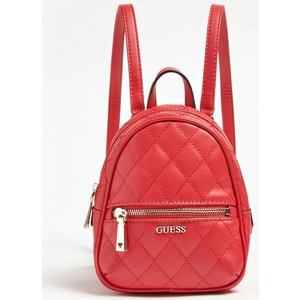 Guess Urban Chic Quilted Backpack, Red