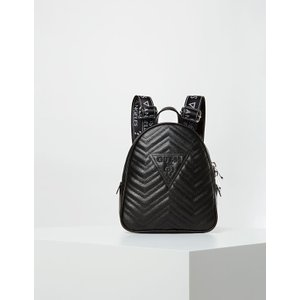 Guess Zana Quilted-look Logo Backpack, Black