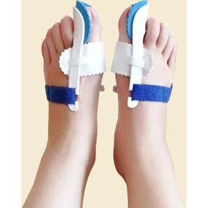 Shein 1pair Big Toe Corrector Blue And White Sbbath18200925600 Clothing Accessories, Blue and White
