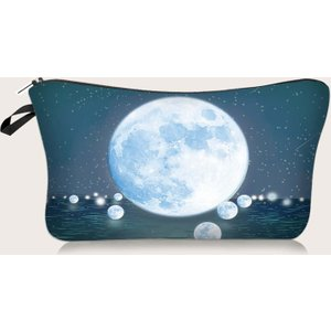 Shein 1pc Planet Print Makeup Bag Multicolor Sbmakeup18200901374 Clothing Accessories, Multicolor