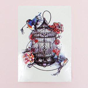 Shein 1sheet Bird Print Waterproof Tattoo Sticker Multicolor Sbtattoo18201228413 Clothing Accessories, Multicolor