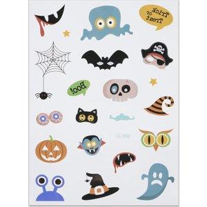 Shein 1sheet Cartoon Graphic Halloween Tattoo Sticker Multicolor Sbtattoo18200720169 Clothing Accessories, Multicolor