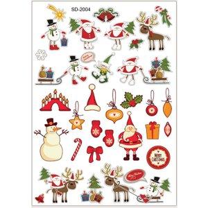 Shein 1sheet Christmas Santa Tattoo Sticker Multicolor Sbtattoo18200925219 Clothing Accessories, Multicolor