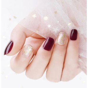 Shein 24pcs Glitter Fake Nails & Double Sided Tape & Manicure Multicolor Sbnailart03200312229 Clothing Accessories, Multicolor