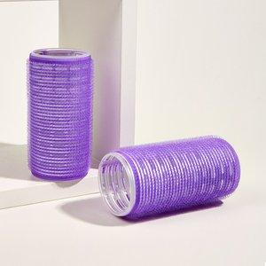 Shein 2pcs Hair Roller Purple Sbhair18201009698 Clothing Accessories, Purple
