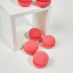 Shein 6pcs Sponge Hair Roller Pink Sbhair18201230727 Clothing Accessories, Pink
