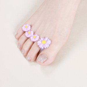 Shein 8pcs Daisy Toe Separator Purple Sbnailart18200806560 Clothing Accessories, Purple