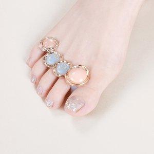Shein 8pcs Nail Art Silicone Toe Separator Multicolor Sbnailart18200806628 Clothing Accessories, Multicolor