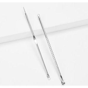 Shein Acne Needle Kit Set 2pcs Silver Beauty180509617 Clothing Accessories, Silver