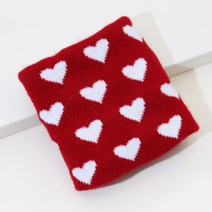 Shein Heart Pattern Sweat-absorbent Breathable Wrist Support Red And White Sbhealth18201113674 Clothing Accessories, Red and White