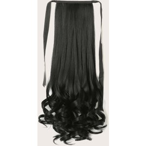 Shein Long Curly Ponytail Hair Extension Black Sbhair18201008665 Clothing Accessories, Black