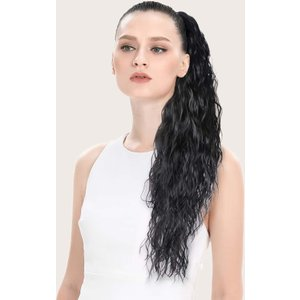 Shein Long Curly Ponytail Hair Extension Black Sbhair18201204469 Clothing Accessories, Black