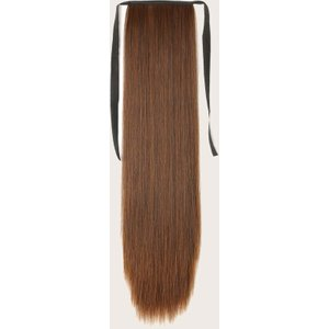 Shein Long Straight Ponytail Hair Extension Brown Sbhair18201020233 Clothing Accessories, Brown