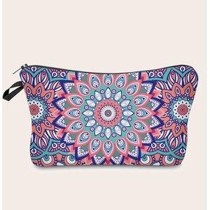 Shein Mandala Print Makeup Bag Multicolor Sbmakeup24201102853 Clothing Accessories, Multicolor