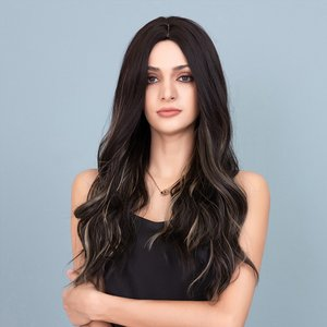 Shein Natural Long Curly Wig Multicolor Sbhair18201020906 Clothing Accessories, Multicolor