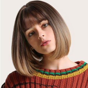 Shein Short Bob Wig With Bangs Brown Swhair03190703843 Clothing Accessories, Brown