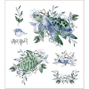 Shein Tortoise & Floral Pattern Tattoo Sticker Multicolor Sbtattoo18200402728 Clothing Accessories, Multicolor