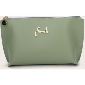 Shein Waterproof Letter Decor Makeup Bag Green Sbmakeup18201113188 Clothing Accessories, Green