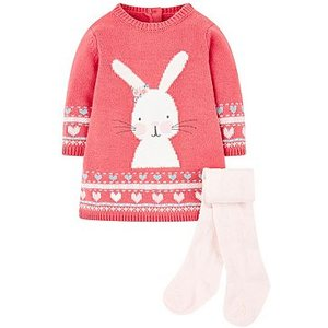 Mothercare Mini Club Knitted Dress And Tight Set 8573522