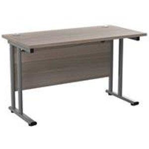 Allegro 1200x600 Cantilever Workstation-grey Oak/silver/ost1260recclgo