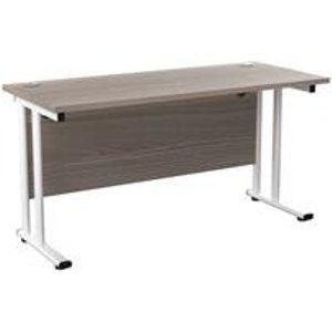 Allegro 1400x600 Cantilever Workstation-g Oak/white Ost1460recclwhgo