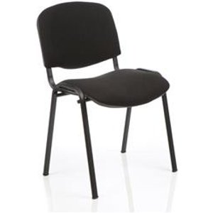 Club Stacking Chair  Fabric -  Black Frame - Black - Ch0500bk
