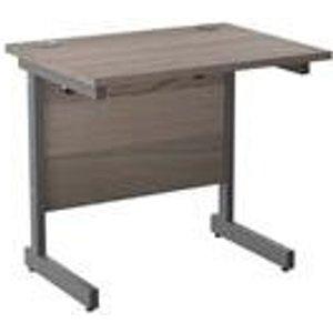 Mezzo 800 X 600  Cantilever Workstation - Grey Oak Ref Ose8060recclgo