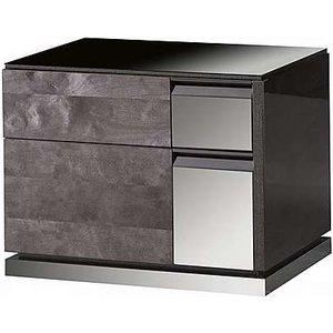 Alf - Avellino Bedside Cabinet Left Hand Facing - 65-cm - Black Zfrsp000000000030358