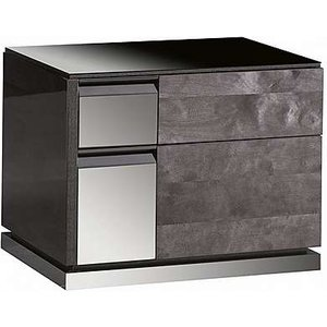 Alf - Avellino Bedside Cabinet Right Hand Facing - 55cm - Black, Black