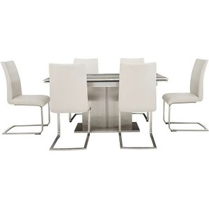 Furniture Village Arabella Extending Dining Table And 6 Dining Chairs - White Zfrsp000000000032822